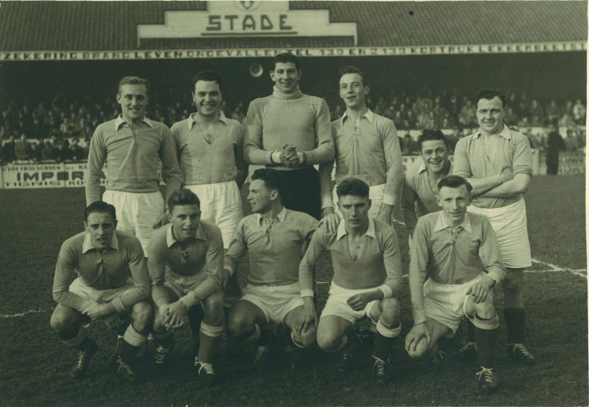 Stade Kortrijk In 1947 In Hun Thuisbasis Het Astridpark.