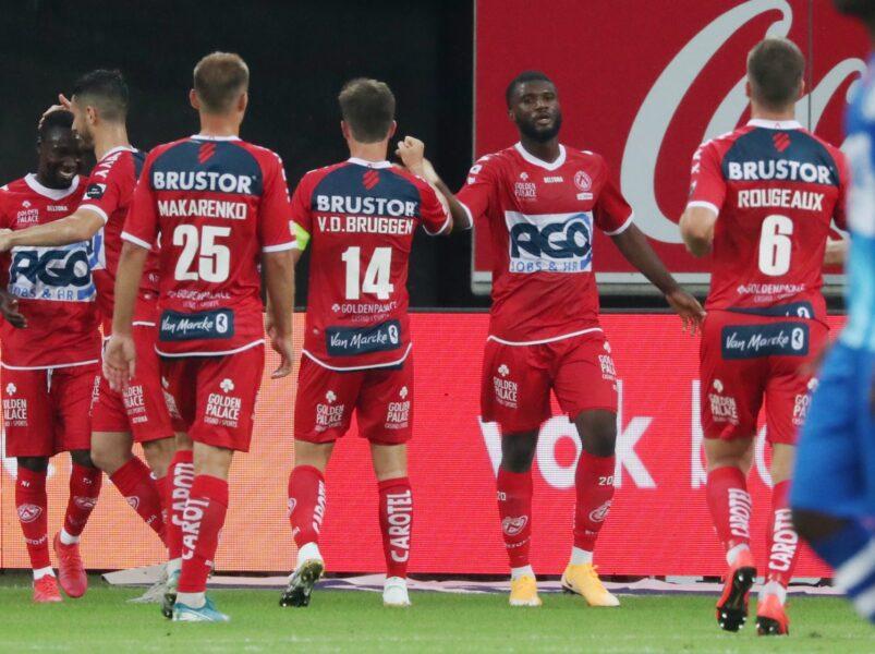 AA Gent – KV Kortrijk : Terem Moffi Scoorde Foto VDB / BART VANDENBROUCKE