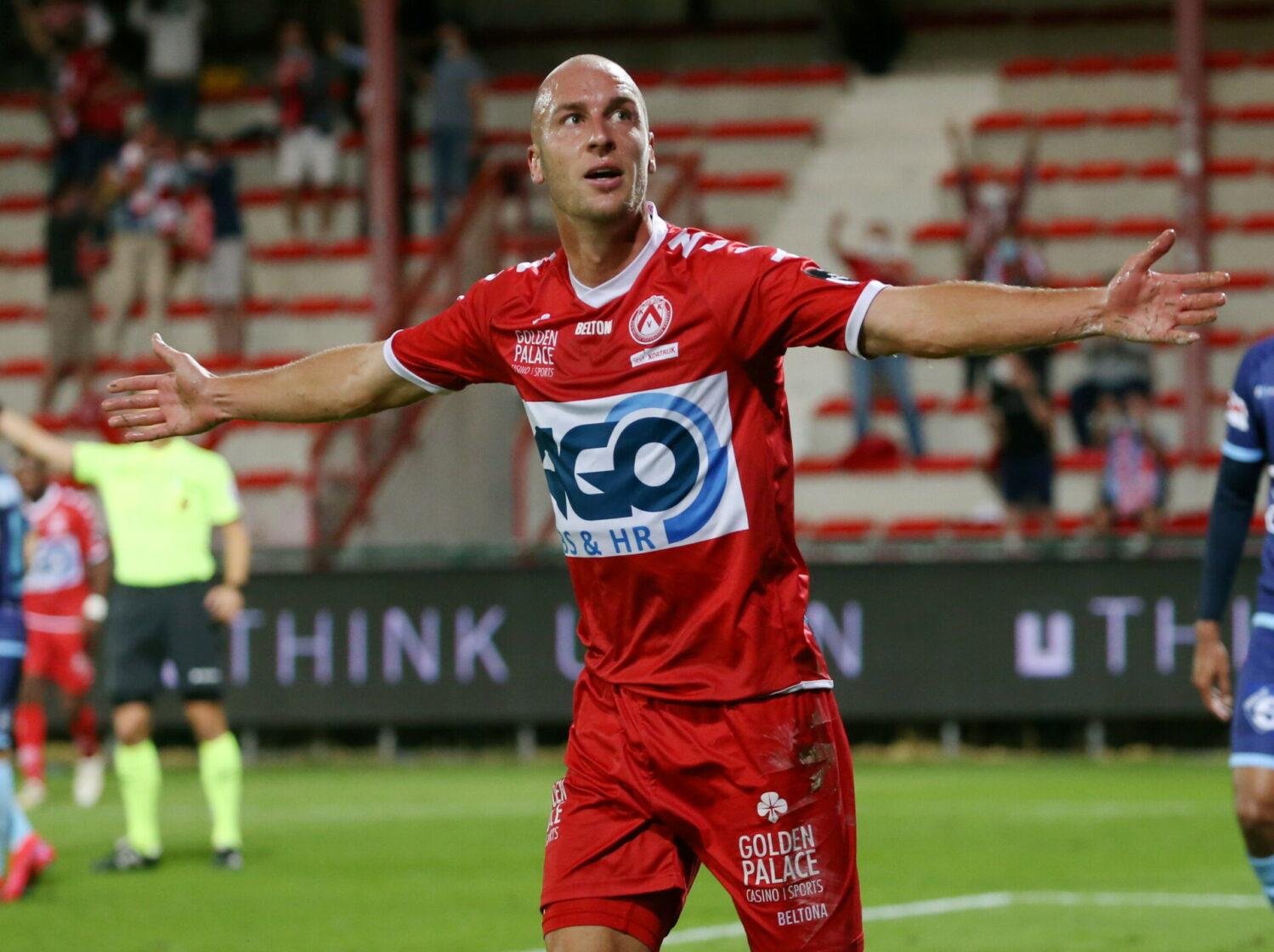 KV Kortrijk – Moeskroen : Gilles Dewaele Foto VDB / BART VANDENBROUCKE