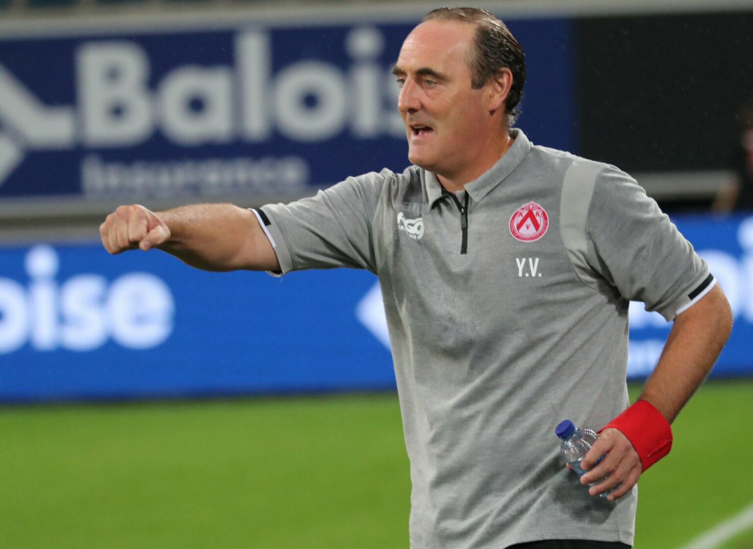 AA Gent – KV Kortrijk : Yves Vanderhaeghe Foto VDB / BART VANDENBROUCKE
