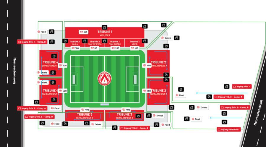 Stadionplan Covid19