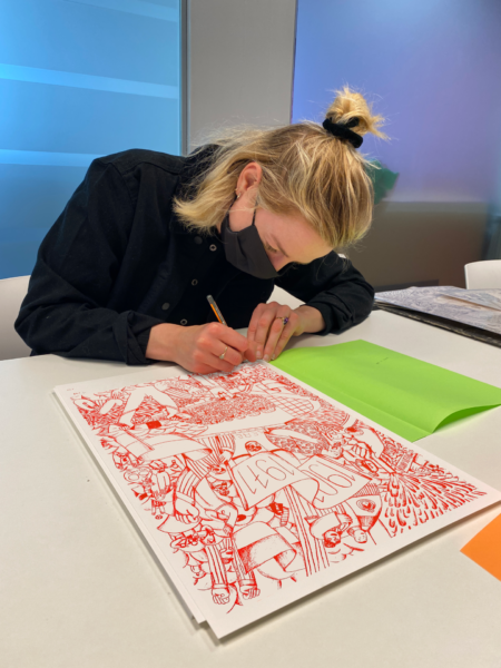 Handtekening Homeshirt Drawing